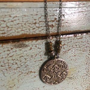 Silpada .925 & Brass Pendant on a Silver Chain